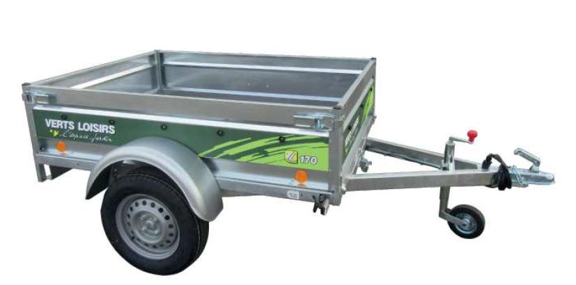 Remorque bagagère VL170  tôle non freinée