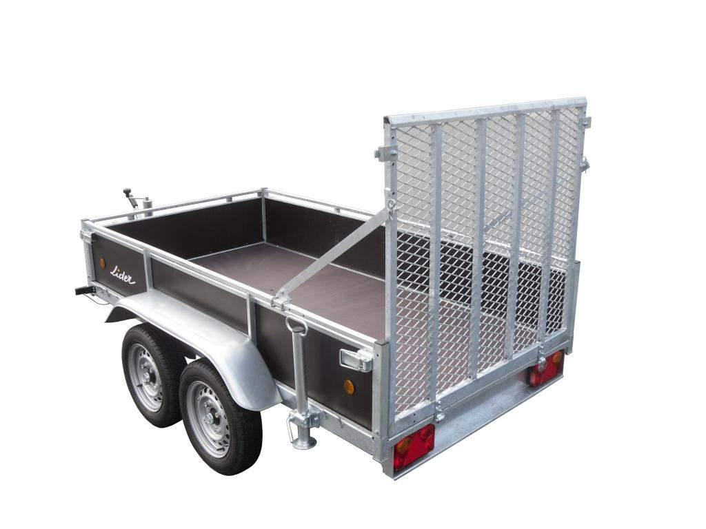 REMORQUE LIDER 2 essieux bois 1300kg freinée