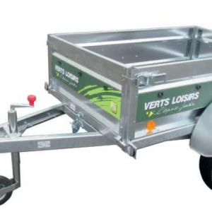 Remorque bagagère VL 150 tôle non freinée